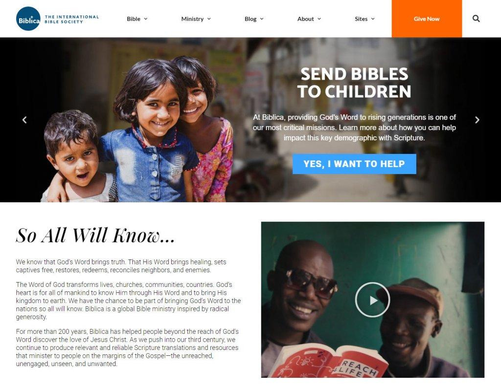 Biblica Homepage