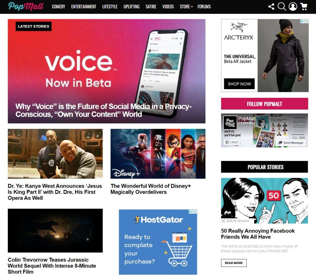 PopMalt Homepage