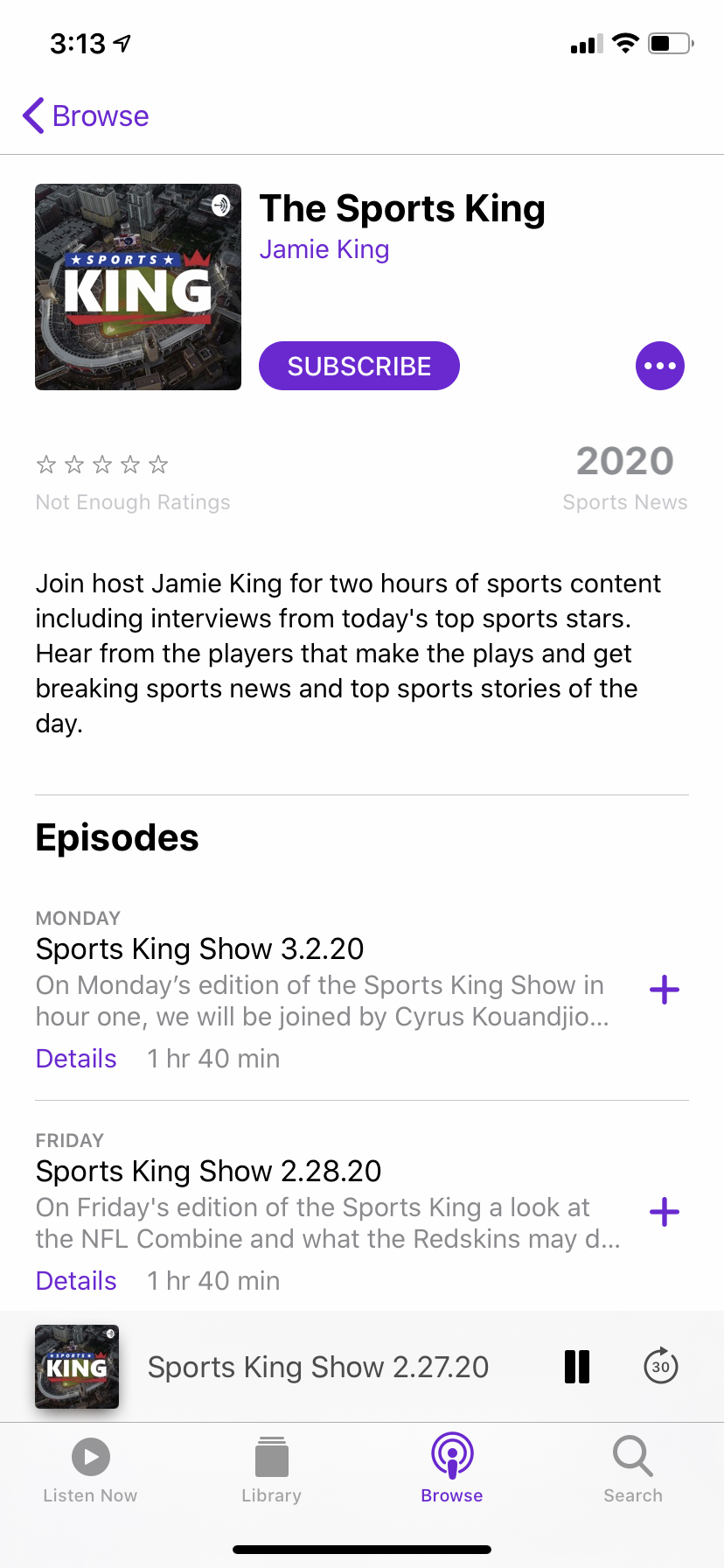 Sports King Podcast
